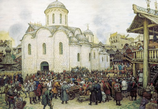 Васнецов. Оборона Москвы от хана Тохтамыша
